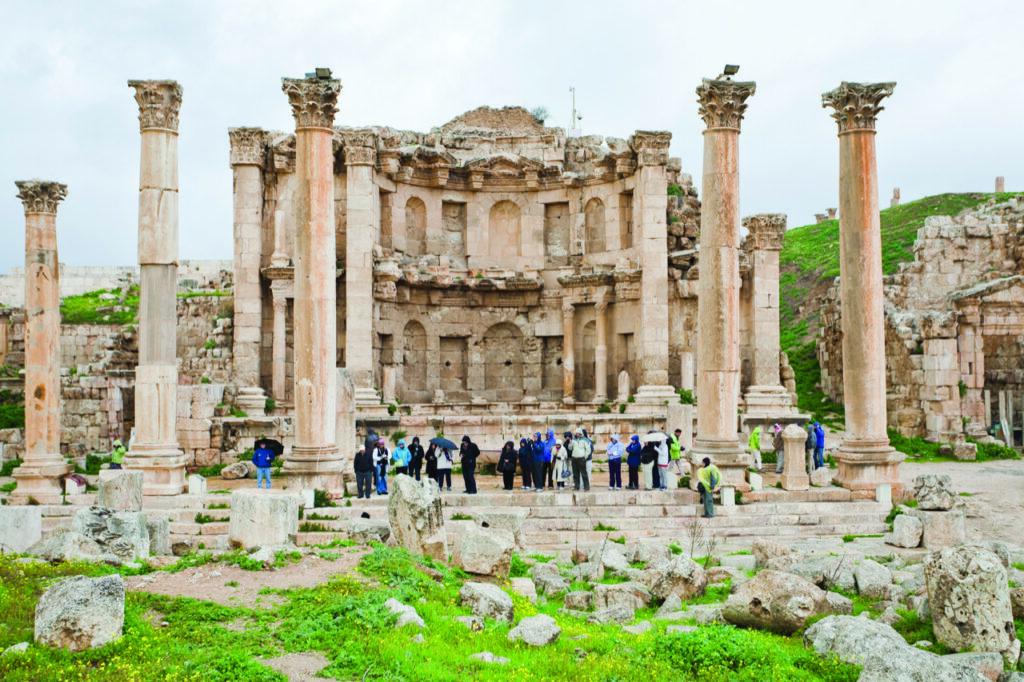 Artemis temple Jerash in Jordan -Adult Group