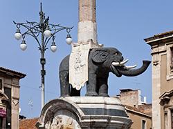Archaeological Composite Elephantine statue, Catania
