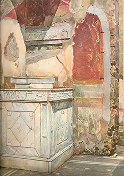 Lararium, House of L Caecilius Jucundus, Pompeii