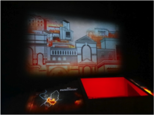 The Great Fire of Rome projection