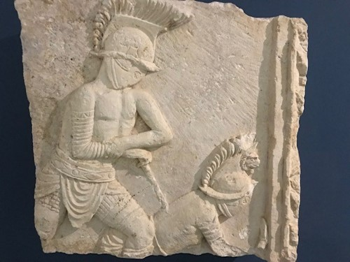 Albania gladiator relief